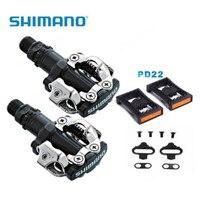 Shimano PD M520 Spd Pedaal Mtb Mountain Fiets Zelfblokkerende Klikpedalen Met Klampen PD22 Gratis Verzending-in Fiets pedaal van sport & Entertainment op