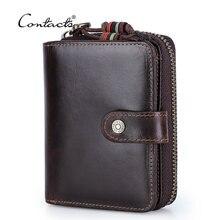 Короткий кошелек contact's мужской из натуральной кожи бумажник