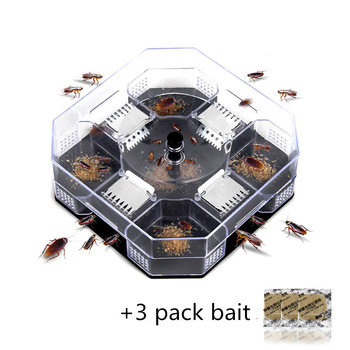 Household Effective Cockroach Traps Box Reusable Cockroach Bug Roach Catcher Cockroach Killer Bait Traps Pesticide for Kitchen image