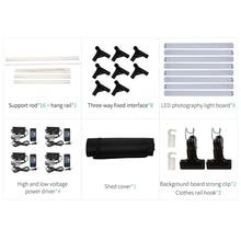 200cmx120cmx100cm Dimmable Photo Studio Lighting Softbox Light Box Folding Photography Backdrop Shooting Tent kit