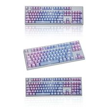 1 Set Replaceable PBT Keycaps 87 104 108 Transparent Lettering Keys Double Shot Injection Backli Key Cap for Mechanical Keyboard