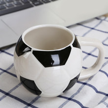 Creative Soccer Printed Mug Ceramic Football Themed Cup Coffee Tea Juice Cup Novelty Drinkware Cup(China)