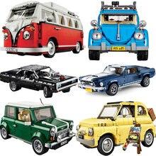 Em estoque técnica dom doged carregador blocos de construção criador especialista super carro tijolos conjunto veículo modelo crianças brinquedos presente