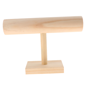 Image 1 - Unfinished Wooden Headband Holder Jewelry Display Stand Rack Organizer Holder for Home Shop Show