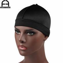Модная мужская шелковая шапка с резинкой, шелковые банданы Durag для мужчин