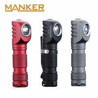 Manker E02 220 Lumen CREE XPG3 /180lm Nichia 219C LED Keychain Light Mini EDC LED Flashlight with Reversible Clip & Magnet Tail