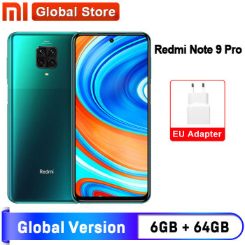 Spain Oversea Redmi Note 9 Pro 6GB 64GB NFC Global Version Smartphone Snapdragon 720G Octa Core 64MP Quad Camera 5020mAh