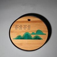 Japanese style simple Melamine Bamboo Tea Tray Household Table Dry Foaming Kung Fu Tea Set Creative Storage Type Tray Teaware