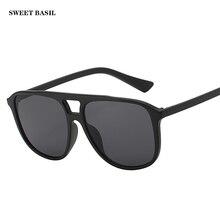цена на SWEET BASIL 2019 Retro Sunglasses Women Men Brand Designer Fashion Square Sun Glasses Oculos De Sol Feminino Masculino Gafas