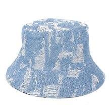 2019 New Men Womens Denim Fishermans hat Bucket Hat Casual Cowboy Fishing Cap Fashionable Autumn Winter Jeans panama Sun Hats