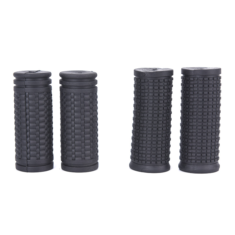 2pcs Bicycle Grips Short Handle Rubber Non Slip Cycling Scooter Bike Parts  F