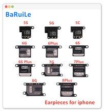 BaRuiLe 10 шт. гибкий Динамик для наушников для iPhone 5 5S 6 6s 7 8 Plus, звуковой приемник, прослушивание, запасные части для ремонта