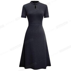 Image 4 - 니스 영원히 여름 빈티지 우아한 순수 컬러 vestidos a 라인 레트로 여자 드레스 A199