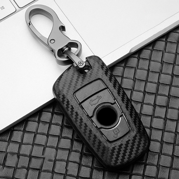 ABS Carbon Fiber Car Key Case Cover for BMW 3 4 5 6 7 G30 520 525 F10 E90 F20 F30 F15 F16 F18 118i 320i X3 X4 Series X5 X6 F48 image