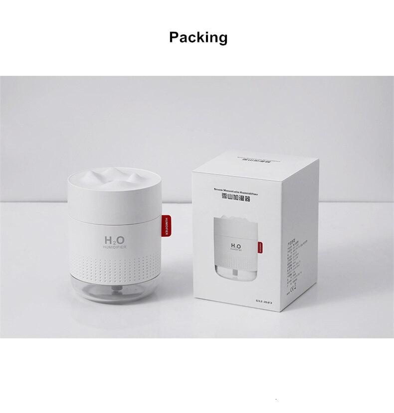 H7f57220c9c4e4cae9bc0bc26db9f0a28v - Portable Ultrasonic Humidifier 500ML Snow Mountain H2O USB Aroma Air Diffuser With Romantic Night Lamp Humidificador Difusor