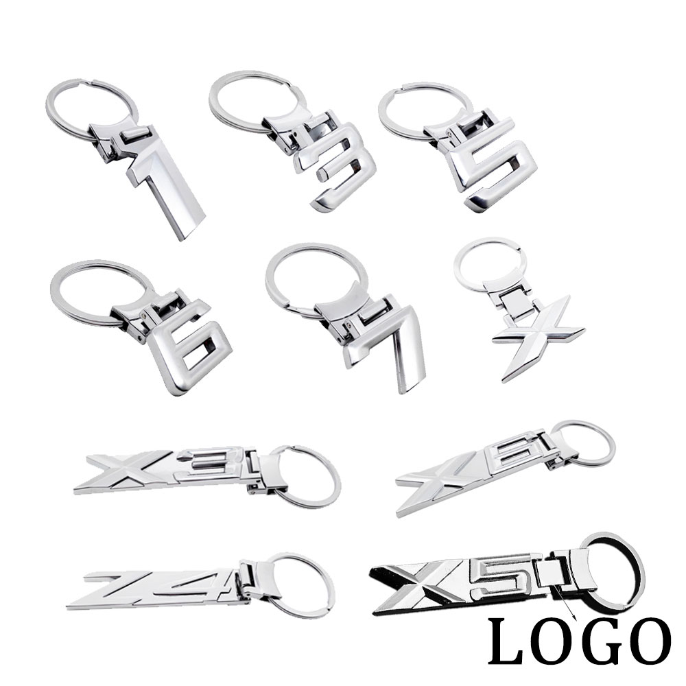 Metal Keyring Stainless Steel Key Chain fob Holder Accessories for BMW Z4 E85 E89 X5 E39 E46 E60 E90 X 1 3 5 7 Z4 Logo KeyChain image