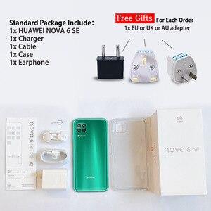 Image 5 - Orijinal HUAWEI Nova 6 SE SmartPhone 6.4 inç Kirin 810 Octa çekirdek Android 10.0 GPU Turbo yüz kilidini