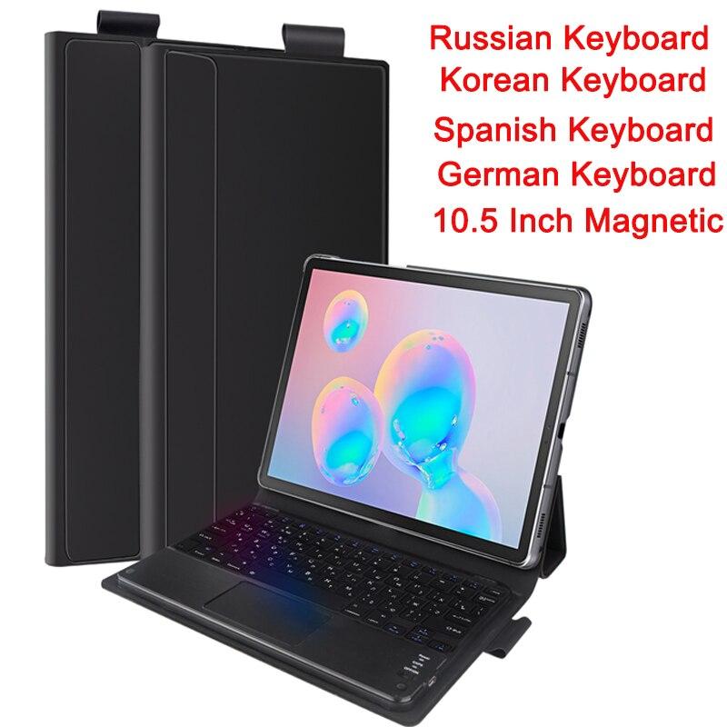 Wireless Russian Keyboard For Samsung Galaxy Tab S6 10.5 In 2019 SM-860/T865 Tablet Bluetooth Keyboard Korean Magnetic Keyboards