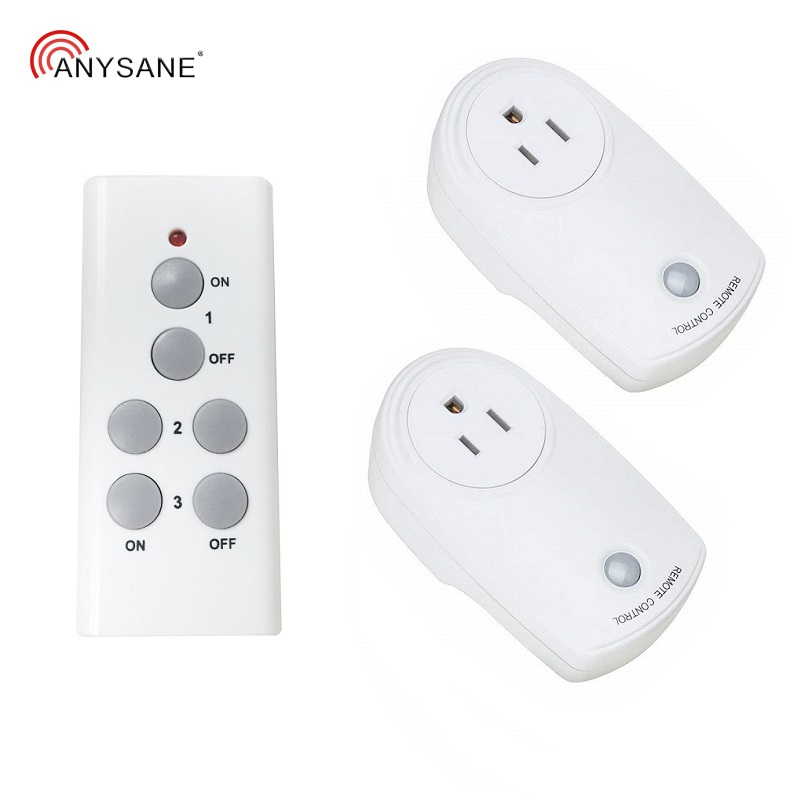 Universal US socket outlet plug 433mhz RF remote controller AC220V 10A compatible Broadlink RM pro+ for smart home 1TX to 1RX