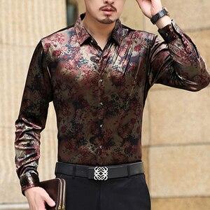 Image 5 - ムー元陽新人デザイナースリムフィットメンズカジュアルシャツファッション長袖高品質メンズドレスシャツ 50% オフビッグサイズ 3XL