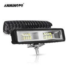 ANMINGPU 6 pollici 48W 72W faretto LED Bar Off Road 12V 24V LED fendinebbia per auto camion barca SUV Atv 4x4 Barra LED Barra luminosa da lavoro