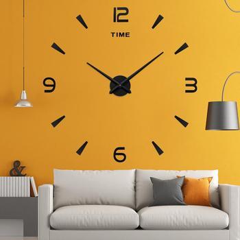 Nowy zegar ścienny kwarcowy zegarek reloj de pared nowoczesny Design duże ozdobne zegary europejskie akrylowe naklejki salon klok tanie i dobre opinie Martwa natura Igła 90cm Antique style Zegary ścienne Pojedyncze twarzy Wielu częściowy zestaw GEOMETRIC Nowoczesne 400g