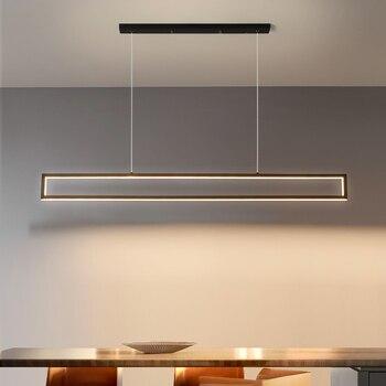 Modern led Pendant Lights Restaurant Nordic Living Room Lamps Luxury Indoor Decoration Lighting 100cm / 120cm