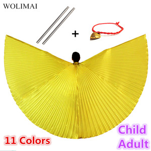 Belly Dance Wings Isis Wings Belly Dance Accessories Bollywood Oriental Egyptian Sticks Costume Adult Kids Children Women Gold