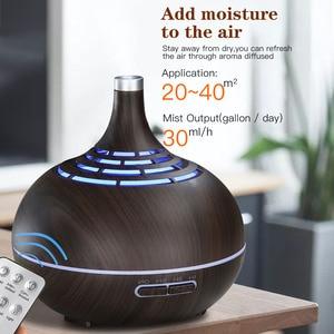 Image 4 - 400 ミリリットル加湿器超音波空気加湿器アプリ WiFi 制御ミストメーカーアロマエッセンシャルオイルディフューザー Led ナイトライトホームオフィス