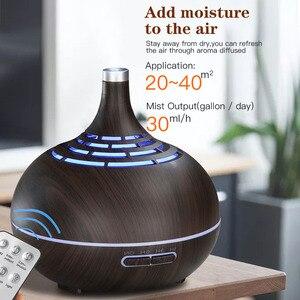 Image 4 - Umidificador de ar ultrasônico de 400ml, com aplicativo, controle de névoa, difusor de aroma, óleo essencial, luz noturna de led, escritório em casa