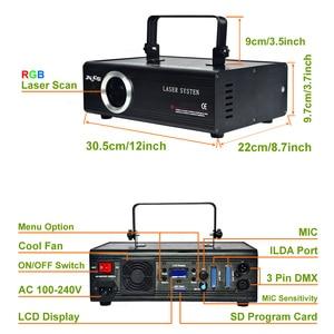 Image 2 - AUCD 40 KPPS 500mW RGB лазерное редактирование SD ILDA программа карта проектор свет DMX анимация сканирование DJ шоу сценическое оборудование освещение