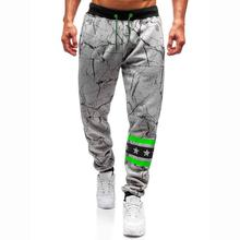 Sportswear Sweatpants Joggers & Sweats Mens Pocket Casual Strap print Trousers for Men Black Gray