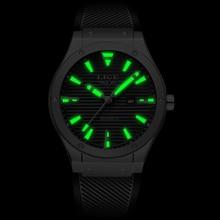 LIGE Men Watches Silicone Quartz Clock LIGE9988