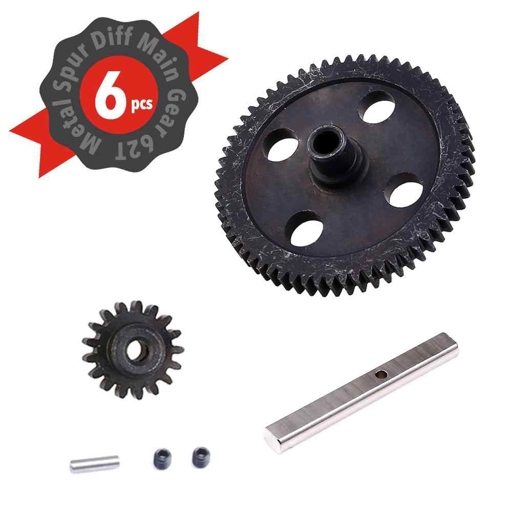 Weili 12428-BC Metal RC Speed Reduction Gears 0088 Motor Reduction Gear 1/12 RC Car Track Short Range Truck Upgrade Accessories