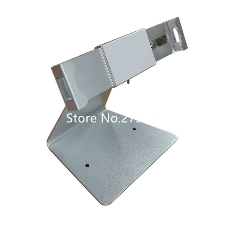 7-13 inches Desktop L-shaped adjustable tablet stand,aluminum tablet display stand exhibition locked universal holder