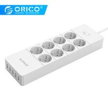 ORICO HPC 8A5U EU Mỹ Phích Cắm UK 8 Ổ Cắm Chống Sét Bảo Vệ Điện Stirp Với 5X5V2. 4A USB Siêu Sạc Cổng Trắng Đen