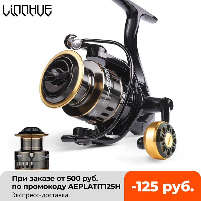 LINNHUE Fishing Reel HE500-7000 Drag 10kg Metal/EVA Ball Grip Spool Spinning Reel Saltwater Reel For Carp Reel Fishing Pesca
