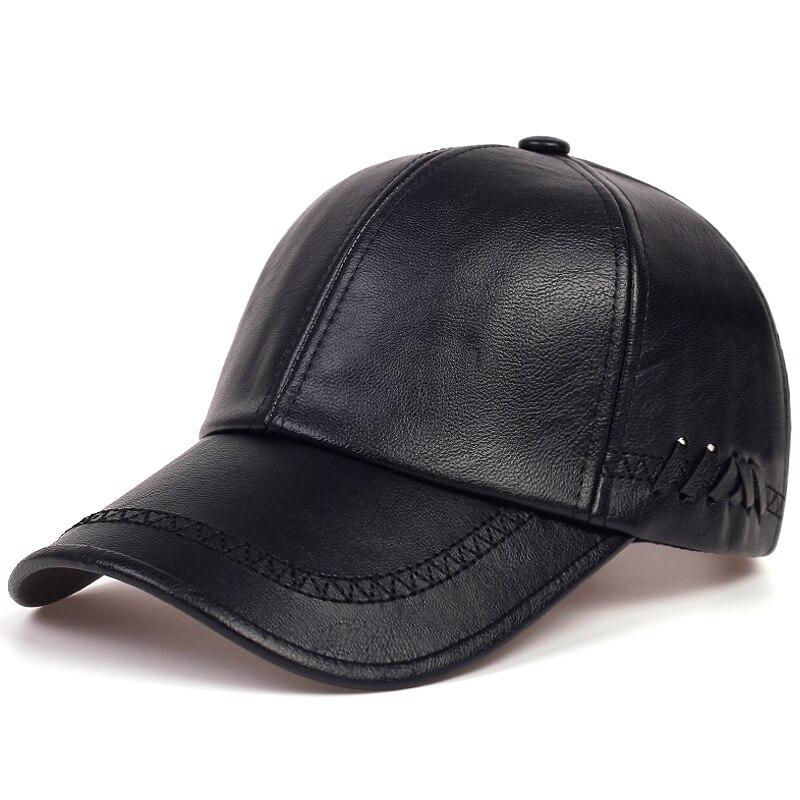 Moda sólida inverno couro boné de beisebol homens snapback outono quente preto bonés feminino osso masculino masculino chapéus e chapéus gorras