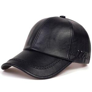 Fashion Solid Winter Leather Baseball Cap Men Snapback Autumn Warm Black Caps Women Bone Masculino Mens hats and Hats gorras