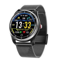 Reloj inteligente MX9 pulsera inteligente ECG IP68 resistente al agua Frecuencia Cardíaca presión arterial ECG + PPG monitorización HRV deportes paso unisex