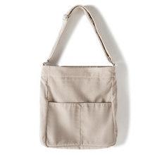 Женская Вельветовая сумка на плечо в полоску, винтажная холщовая сумка-мессенджер с длинным ремешком, женская большая сумка через плечо, бо...