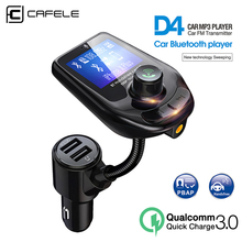 Cafele QC3.0 Car charger Kit Handsfree Wireless Bluetooth FM Transmitter MP3 Player USB LCD Modulator Play
