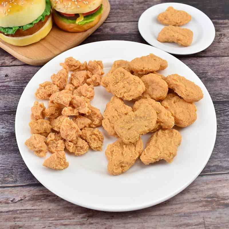 5PCS Artificial Food Fake Realistic Chicken Nugget Simulation Food Kids Toy Photo Props Home Decoration