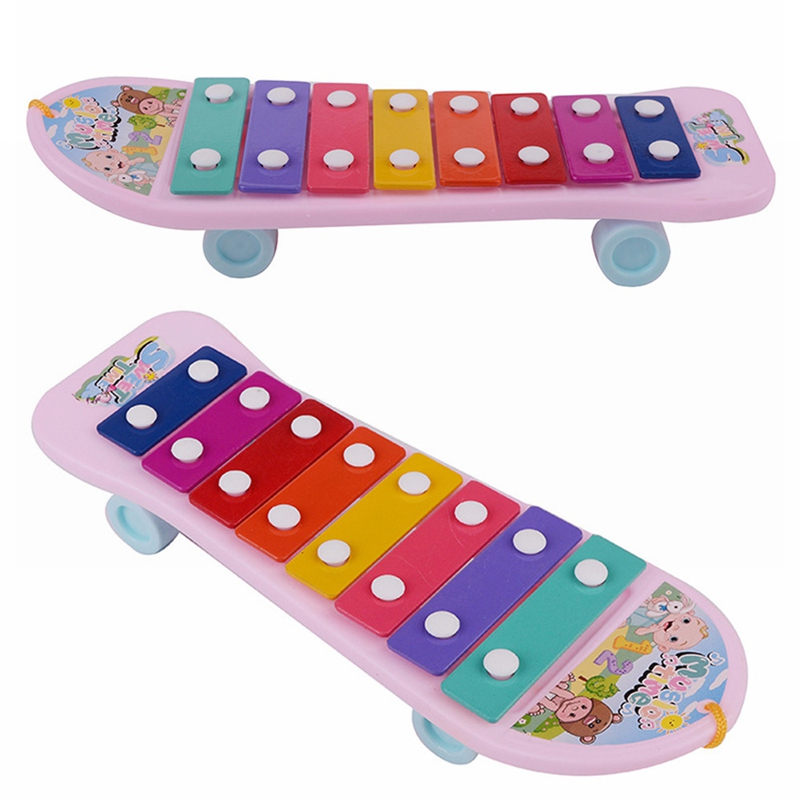 Learning Educational Toy Scooter Children's Knock Piano Small Riders Infant Baby Musical Toys Random Colors