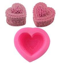 Силиконовая форма для мыла в форме сердца, форма для мыла, форма для изготовления мыла, форма для украшения торта, форма для свечей ручной работы