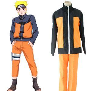 Image 3 - Anime Costumi Cosplay di Naruto Uzumaki Naruto 2nd Outfits Uniformi Set con Mantelli Puntelli di Halloween Vestiti Del Partito Giapponese