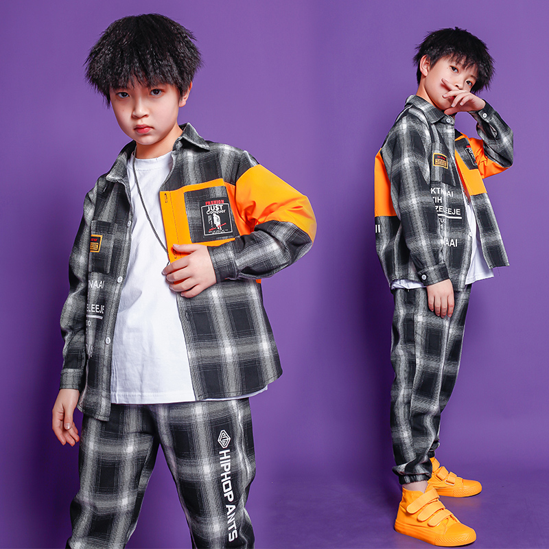 Children Ballroom Hip Hop Festival Outfits Jacket Casual Pants Girl Boys Jazz Dance Costume Clothes Wear Kids Carnaval Clothes