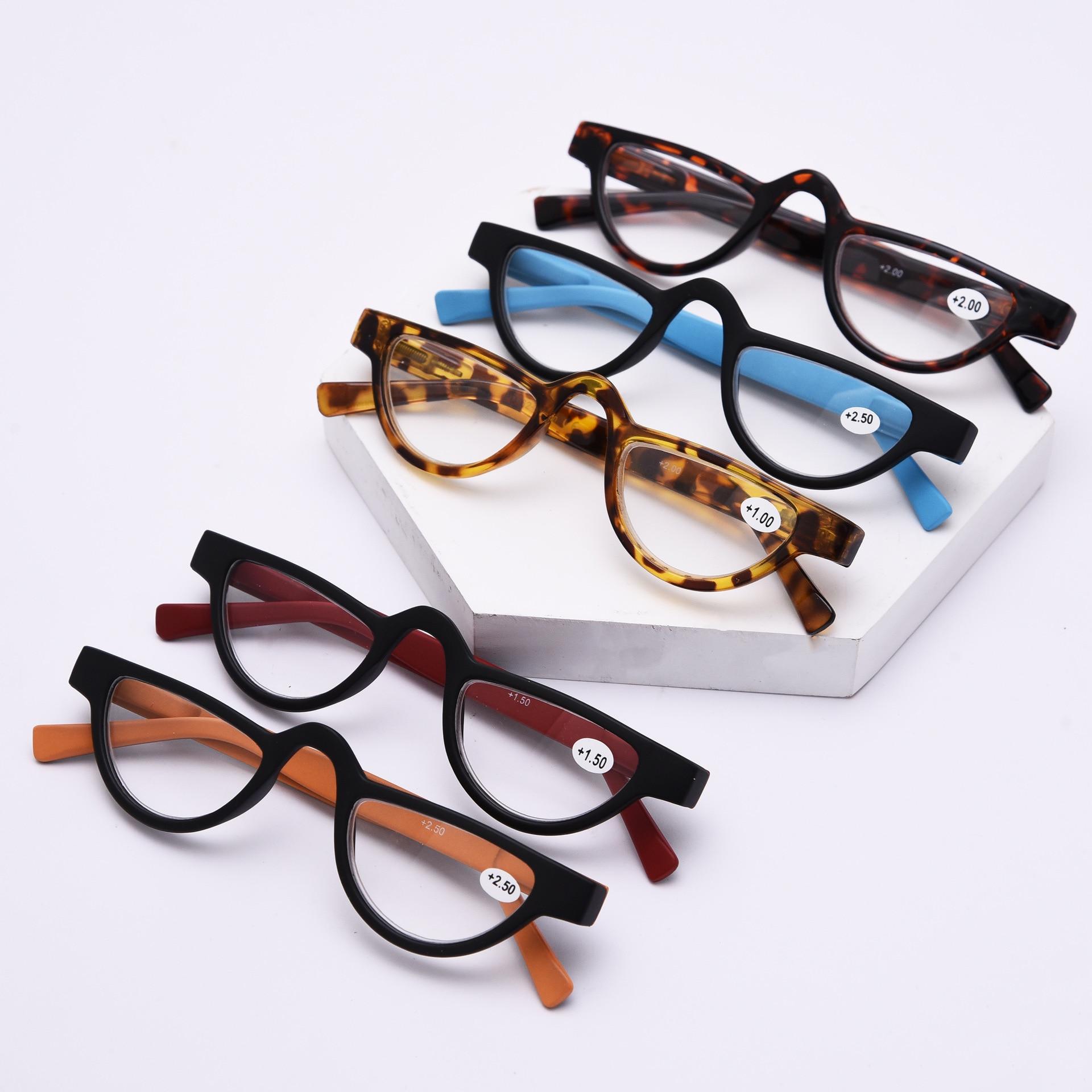 Retro Cat Eye Slender Men Women Reading Plastic Slingshot Glasses ...
