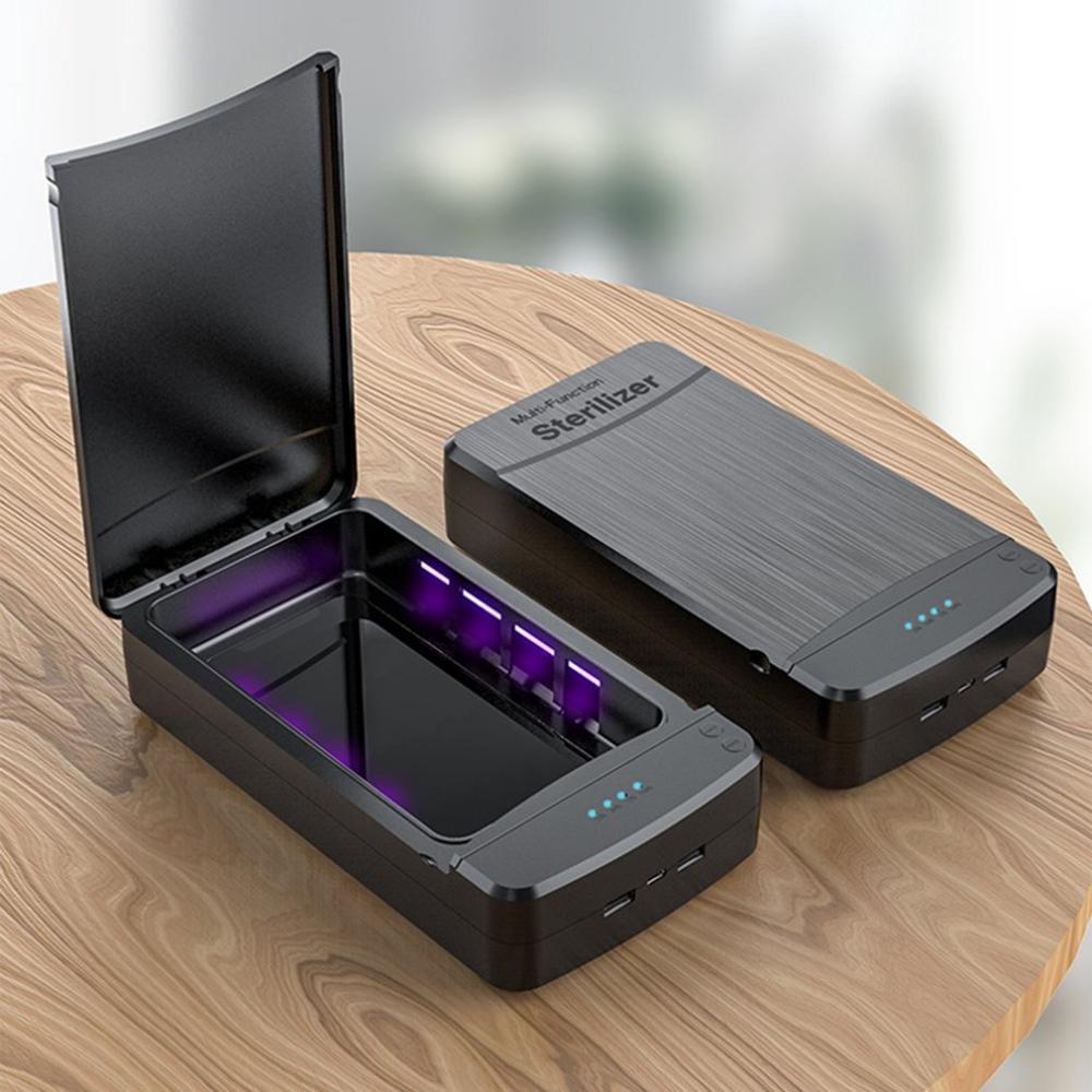 Nueva caja de desinfección ultravioleta portátil multifuncional, esterilización inteligente, desinfección UV