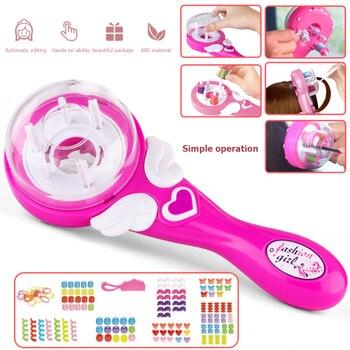 Girls Electric Automatic Hair Braid DIY Stylish Braiding Hairstyle Tool Twist Braider Machine Weave Roller Pretend Kids Toys